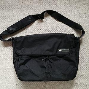 Puma Messenger Shoulder Laptop Crossbody Black Bag